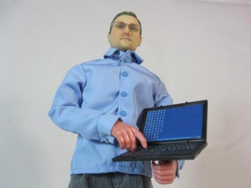 Así luce la figura de Edward Snowden elaborada por el fabricante de muñecos ThatsMyFace.com. El muñequito Snowden cuesta 99 dólares y puede ser solicitada a través de la página web de la compañía. Foto ThasMyFace.com