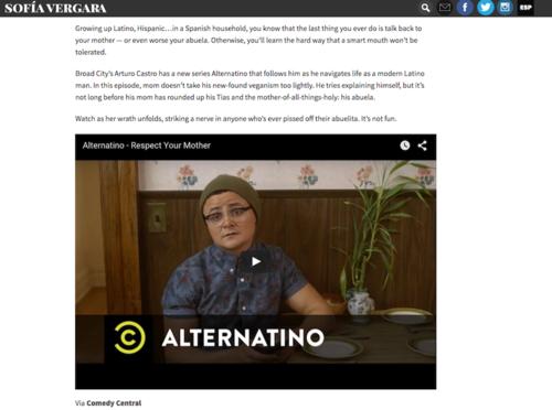 """Sofía Vergara recomienda la serie """"Alternatino"""" del guatemalteco Arturo Castro en su sitio de noticias. (Foto: Sofía Vergara oficial)"""