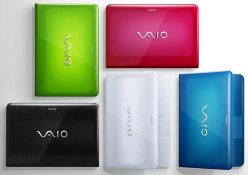 La portátil Vaio se distribuyo en diferentes colores.