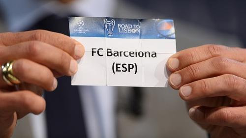 El primer equipo que apareció en el sorteo fue el Barcelona y se enfrentará a otro equipo español, el Atlético de Madrid. (Foto: UEFA.com)