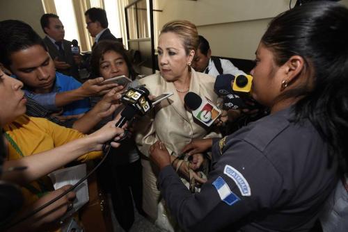 Blanca Stalling recupera su libertad a cambio de 300 mil quetzales de fianza. (Foto: Erick Sor/Nuestro Diario)