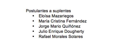 El CANG también cuenta con 5 aspirantes a magistrados suplentes de la CC.