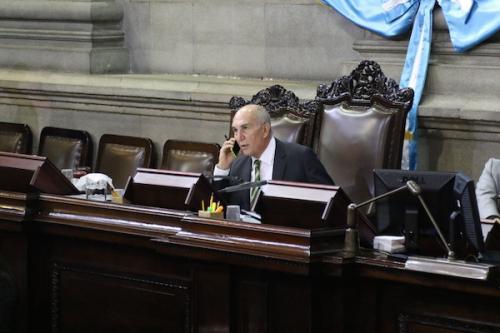 """Retomar la Junta Directiva del Congreso y sustituir a Mario Taracena son los objetivos principales de la """"vieja política"""". (Foto: Alejandro Balán/Soy502)."""