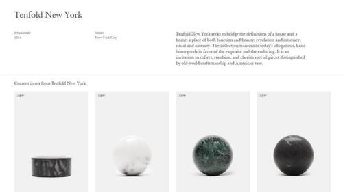 Tenfold es una tienda online de accesorios de lujo para el hogar. (Imagen: Infobae)