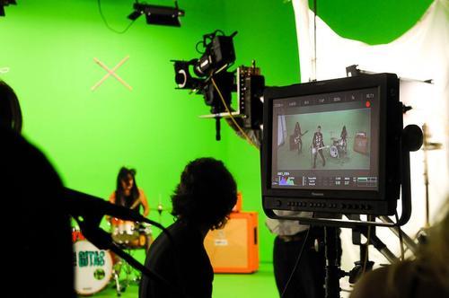 """Detrás de cámara de la realización de video de """"The Gitas"""". (Foto: The Gitas)"""