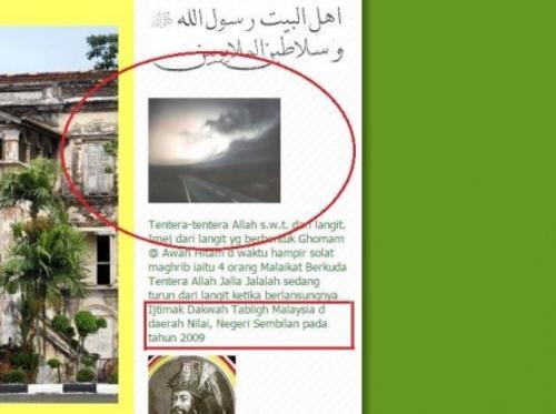 Un medio de comunicación en Filipinas publicó en 2009 esta fotografía y también se dijo que eran los jinetes del Apocalipsis.
