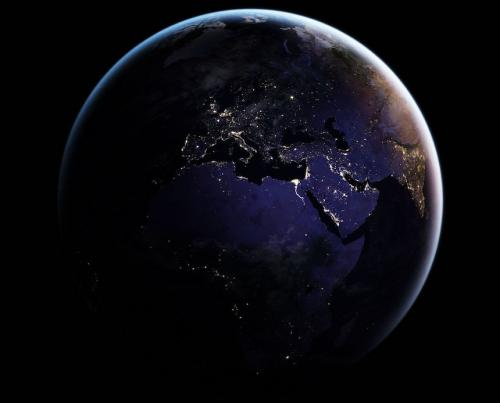 Las luces se notan claramente. (Foto: NASA)
