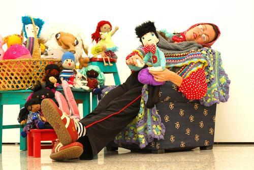 """Los personajes que acompañan a Tonicampana han nacido en el proyecto """"El taller de Tonicrochet"""". (Foto: Marlon García)"""