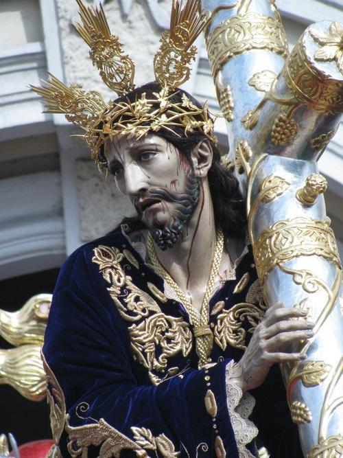 Acercamiento de la Venerada Imagen del Nazareno de las Beatas de Belén. (Foto: Raúl Illescas).