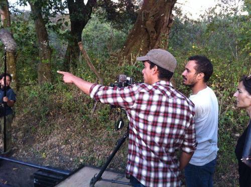 Jayro Bustamante y Luis Armando Arteaga en la filmación de Ixcanul. (Foto: Ixcanul oficial)