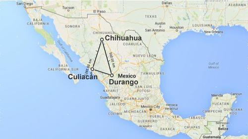 """Los estados que conforman el llamado """"Triángulo Dorado"""" son Chihuahua, Sinaloa y Durango.  (Foto: Google Maps)"""