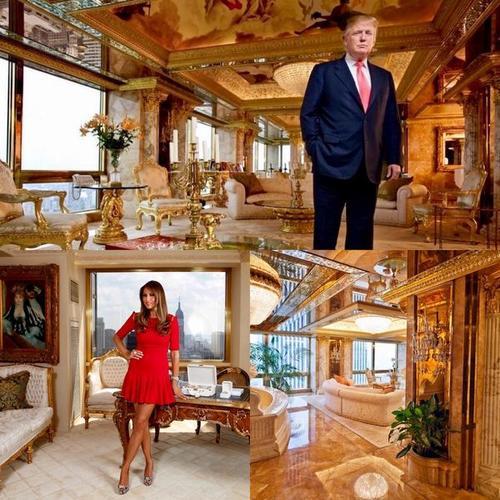 En la torre aún vive la primera dama de Estados Unidos. (Foto: Infobae)