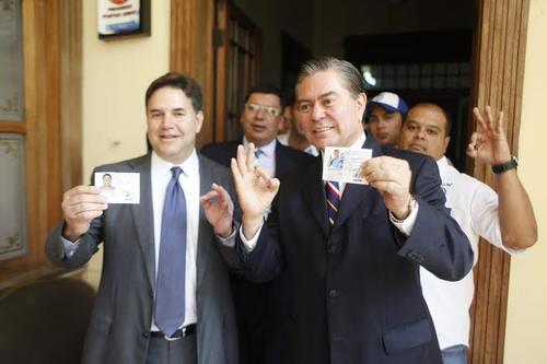 Los candidatos de UCN fueron formalmente inscritos ante el TSE.  (Foto: Wilder López/Soy502)