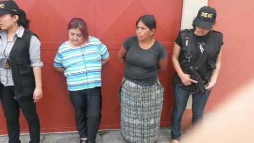 Las mujeres capturas serán sindicadas de secuestro. Foto:Soy502