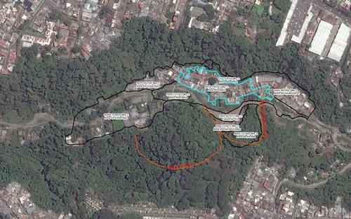 La imagen muestra como era área en la que ocurrió el alud el pasado jueves 1 de octubre en horas de la noche. (Foto: CEMEC-CONAP-NETCORE y NASA )