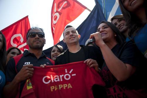 Marco Pappa fue presentado ante la afición roja como el refuerzo de lujo de Municipal. (Foto: Nuestro Diario)
