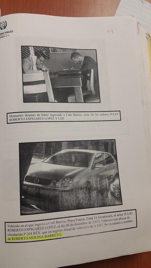 Este es el vehículo en el que Julio Espigares llegó a la reunión con el empresario israelí, a quien habría intentado sobornar, según la acusación del MP.