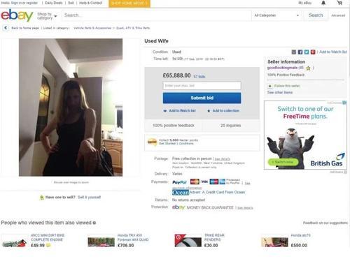 Una captura de pantalla del anuncio colocado en eBay.