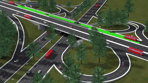 El objetivo de construir un nuevo puente es para beneficiar a los automovilistas que se dirigen de sur al centro de la ciudad por medio de esta ampliación al puente del Anillo Periférico sobre la calzada Roosevelt.