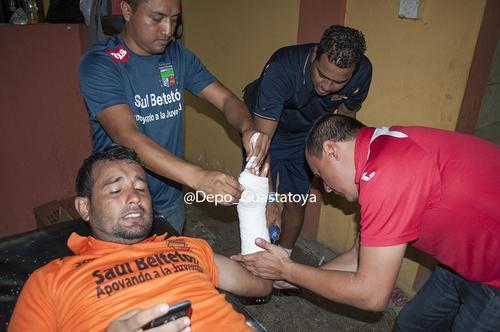 Víctor Solalinde jugó fracturado todas las fases finales del Apertura 2015. (Foto: Twitter @Depo_Guastatoya)