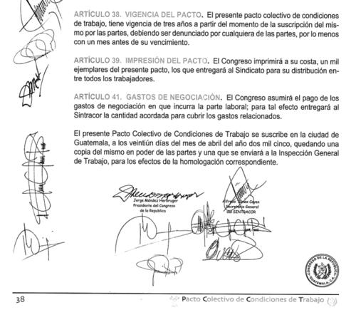 El pacto colectivo del Congreso venció en 2008. (Foto: José Miguel Castañeda/Soy502)