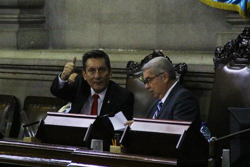 Luis Rabbé, presidente del Congreso, fue reelecto para esta nueva legislatura por el partido Lider. (Foto: Alexis Batres/Soy502)