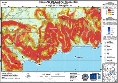 Santa Cruz La Laguna y los municipios aledaños poseen un alto riesgo de deslizamientos, según la Conred.