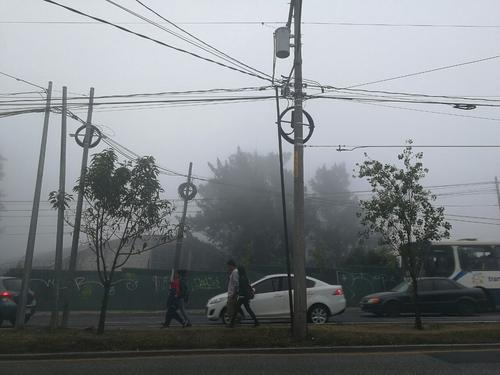 La neblina afecta la visibilidad en diferentes puntos de la ciudad. (Foto: Wilder López/Soy502)