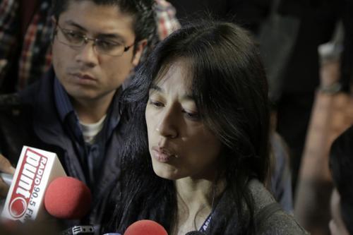 La ministra dio declaraciones en la conclusión de una actividad de la Corte Interamericana de Derechos Humanos. (Foto: Alejandro Balán/Soy502)