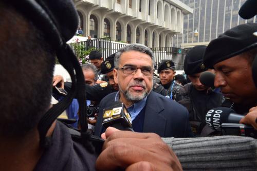 El exdiputado Manuel Barquín a su llegada a tribunales. (Foto: Archivo/Soy502)