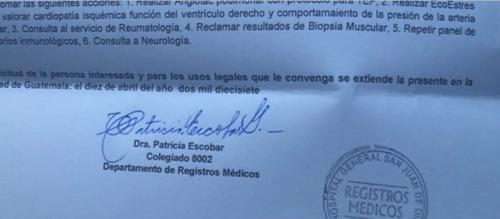 La doctora Patricia Escobara del Hospital General San Juan de Dios realizó la evaluación. (Foto: Soy502)