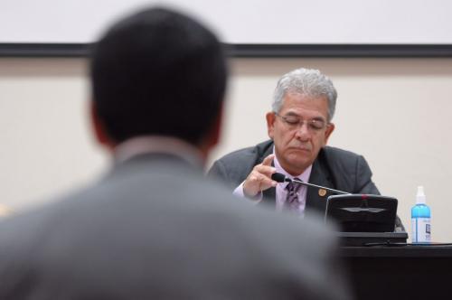 El juez Miguel Ángel Gálvez ha escucha las peticiones de los implicados en el caso Cooptación del Estado y tiene previsto resolver el 4 de mayo. (Foto: Jesús Alfonso/Soy502)