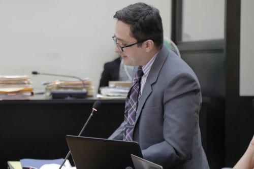El jefe de la FECI, Juan Francisco Sandoval, solicitó al juez Miguel Ángel Gálvez confirmar la prisión preventiva y el auto de procesamiento a los implicados del caso Cooptación del Estado que solicitaron las reformas.  (Foto: Alejandro Balán/Soy502)