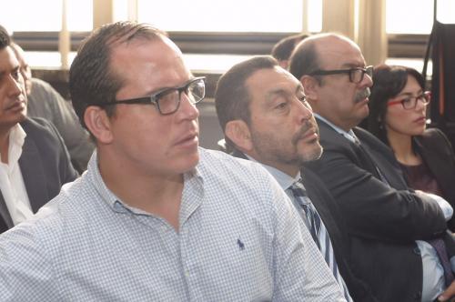 Los exministros de Cultura y Gobernación durante la audiencia. (Foto: Jesús Alfonso/Soy502)
