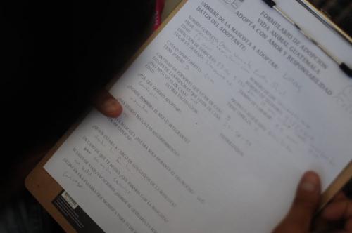 Ejemplo de formulario que deben rellenar los interesados. (Foto: Jesús Alfonso/Soy502)