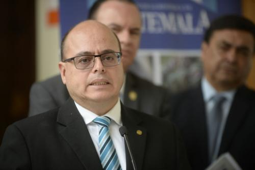 Intendente Abel Cruz ofreció declaraciones al término del Gabinete Económico. (Foto: Wilder López/Soy502)