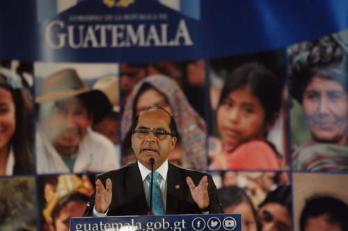 El ministro anunció la convocatoria al finalizar el Gabinete de Ministros. (Foto: Jesús Alfonso/Soy502)