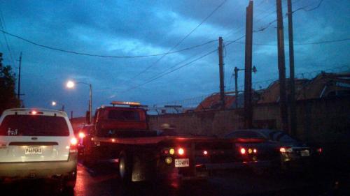 La calzada Atanasio Tzul hacia el sur también se encuentra congestionada. (Foto: Soy502)