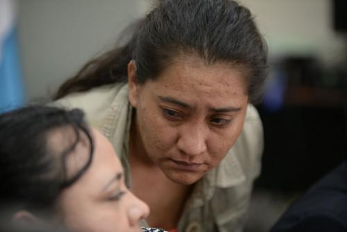 La subinspectora fue enviada a prisión preventiva por el Juzgado Cuarto de Instancia Penal. (Foto: Wilder López/Soy502)