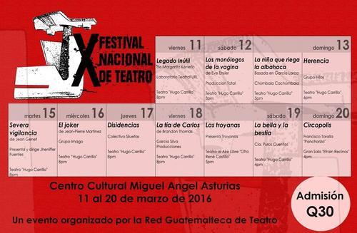 Festival Nacional de Teatro 2016.
