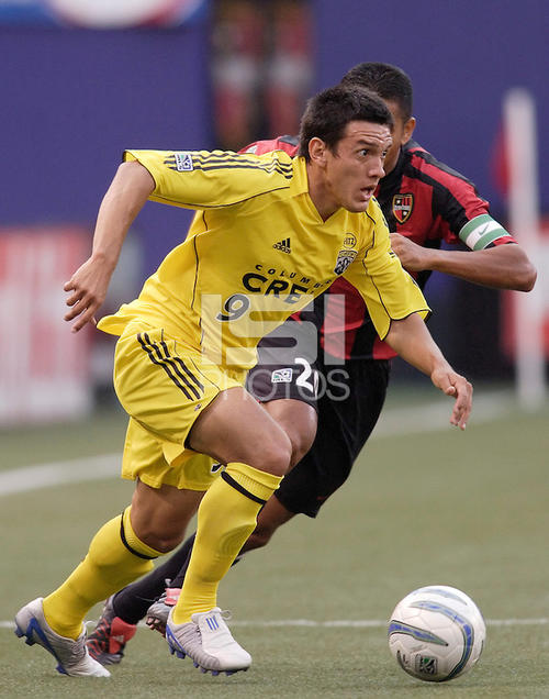 """El """"Loco"""" Rodríguez jugó en el Crew, hace algunos años."""