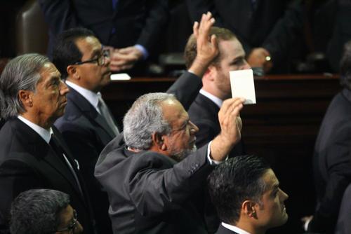 Alianza Ciudadana no pudo oficializarse como bloque el 14 de enero, porque Edgar Zamora no fue juramentado por no contar con finiquito. (Foto: Archivo/Soy502)