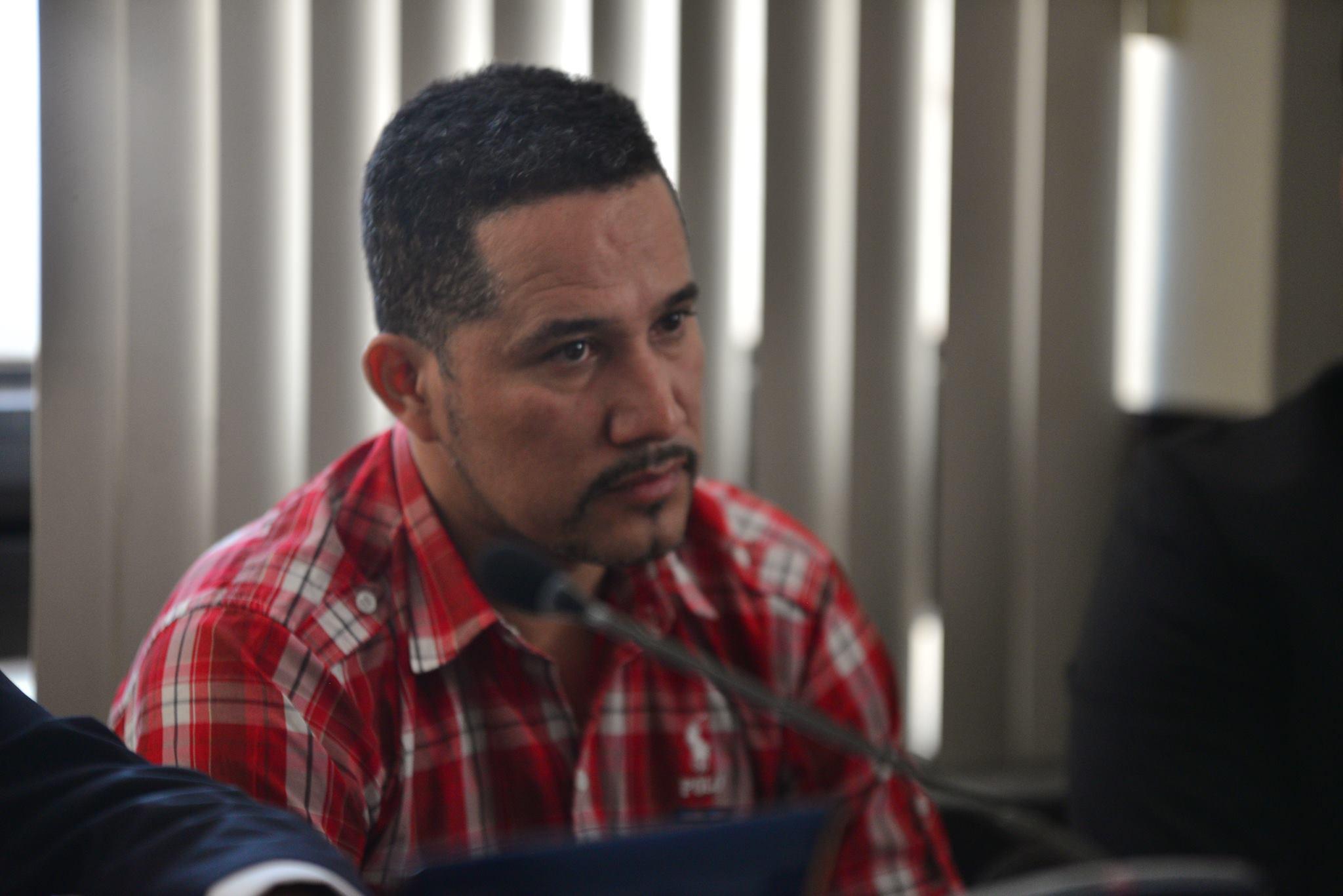 José Estuardo Blanco, ex jefe de guardaespaldas de Muadi