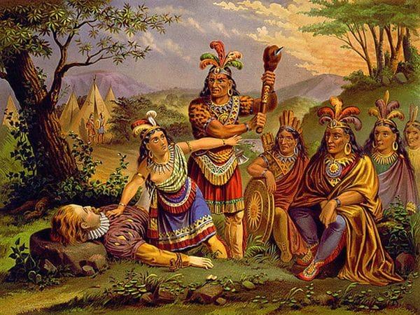 Pocahontas habría salvado la vida de John quien estuvo a punto de ser ejecutado por la tribu. (Imagen Infobae)