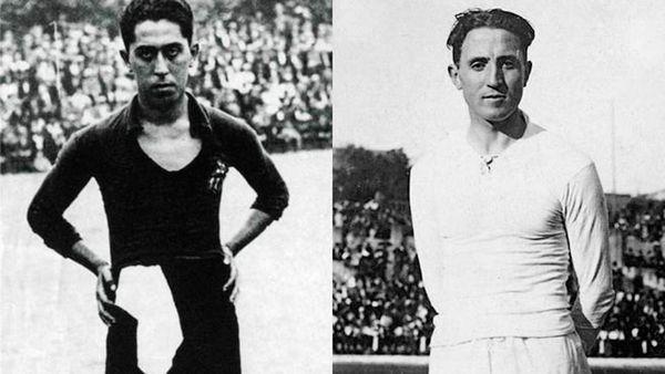 Paulino Alcántara y Santiago Bernabéu fueron las primeras estrellas del FC Barcelona y Real Madrid respectivamente. (Imagen Infobae)