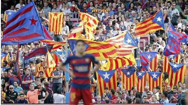 En los clásicos en el Camp Nou en el minuto 17.14 resuena el grito de Independencia (Foto Infobae)