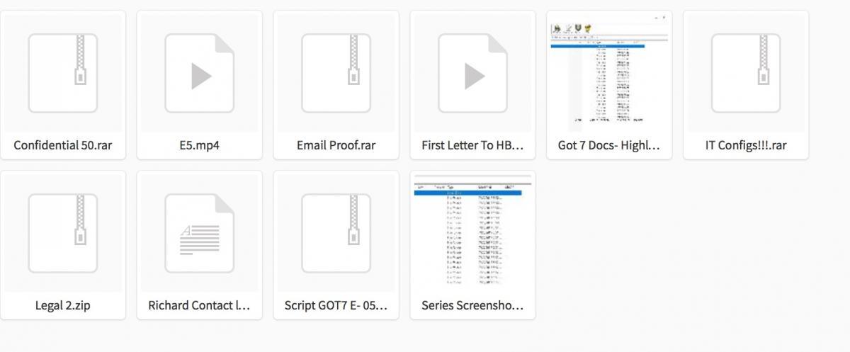 """Estos son los archivos que habría filtrado el grupo de """"hackers"""" este lunes. (Imagen. Databreaches)"""