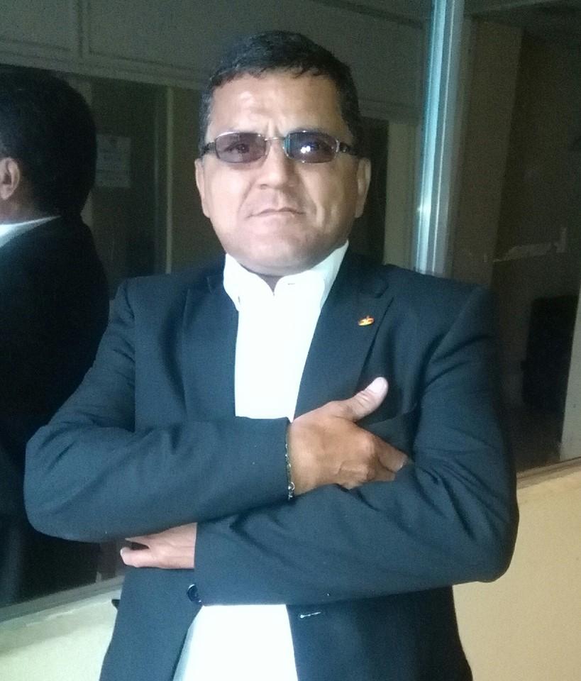 Mynor Andrino es el guardia que llegó en aparente estado de ebriedad a trabajar al Congreso. (Foto: Soy502)
