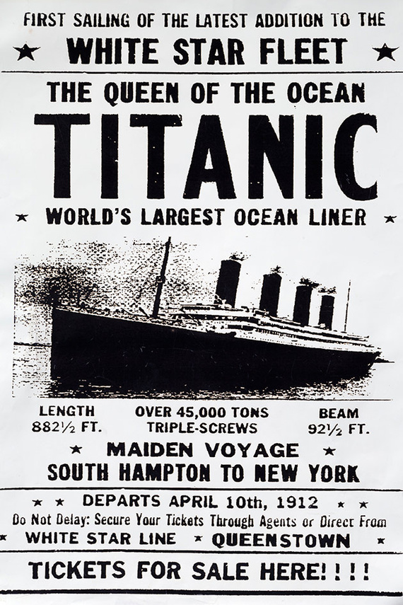 Afiche promocional del viaje del Titanic. (Imagen. elsalvador.com)