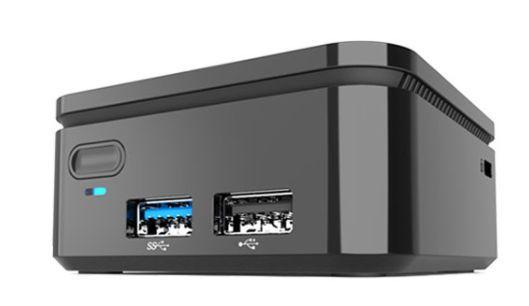 La computadora cuenta con dos puertos USB y una ranura microSD. (Foto. López Dóriga)